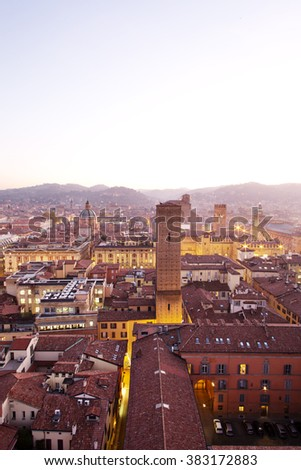 Bologna Old City View  - stock photo