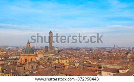 Bologna panoramic view - stock photo