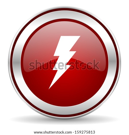bolt icon  - stock photo