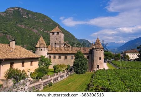 Bolzano in Alto Adige, the Maretsch Castle - stock photo