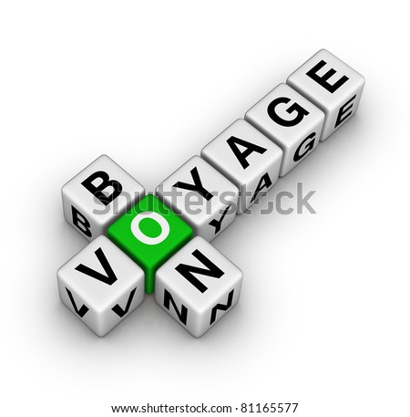bon voyage - stock photo