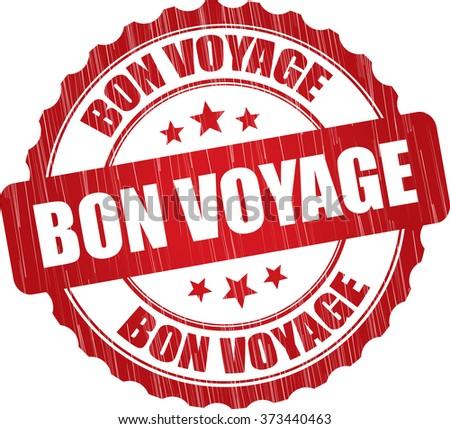Bon voyage grunge rubber stamp. - stock photo