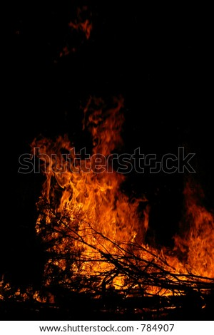 Bond Fire - stock photo