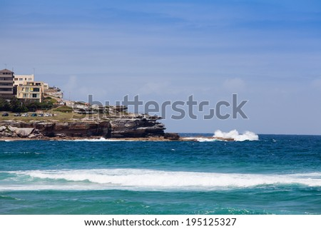 Bondi Beach in Sydney Australia  - stock photo