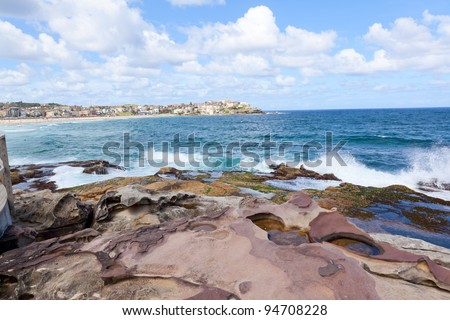 Bondi Beach in Sydney, Australia - stock photo