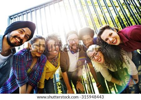 Bonding Community Friends Team Togetherness Unity Concept - stock photo