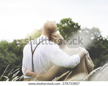 Bonding Couple Leisure Love Romance Relaxation Concept - stock photo