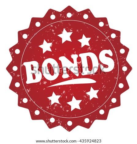 bonds grunge stamp - stock photo