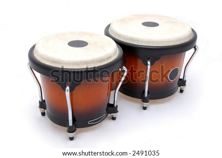 Bongos isolated - stock photo