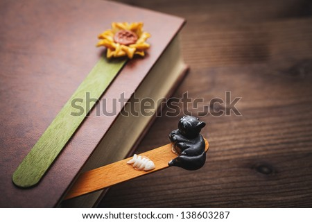 book and bookmark - stock photo