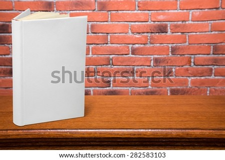 Book, blank, white. - stock photo