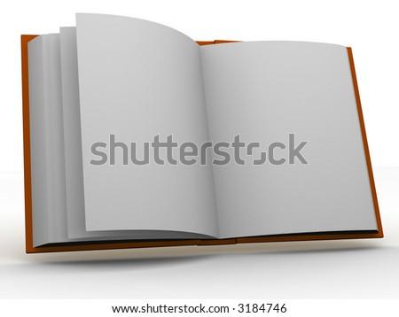 book. 3d - stock photo