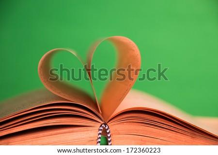 Book heart  - stock photo
