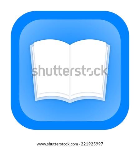 Book icon - stock photo