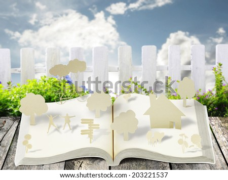 book of fantasy stories ,Reading fantasy book - stock photo