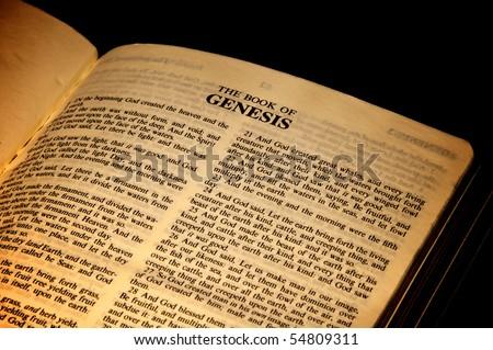Book of Genesis - stock photo