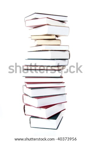 book on white isolated - stock photo
