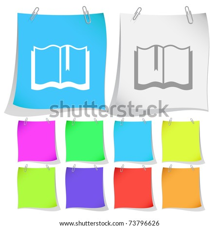 Book. Raster note papers. Vector version is in portfolio. - stock photo
