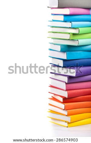 Book, Stack, Textbook. - stock photo
