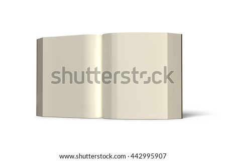 Book standing and opening isolated in white background , 3D rendering - stock photo