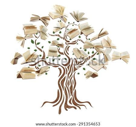 Book tree - stock photo