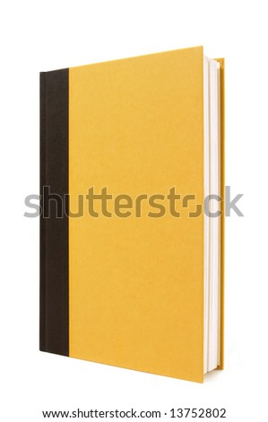 Book upright : black and yellow, vertical - stock photo
