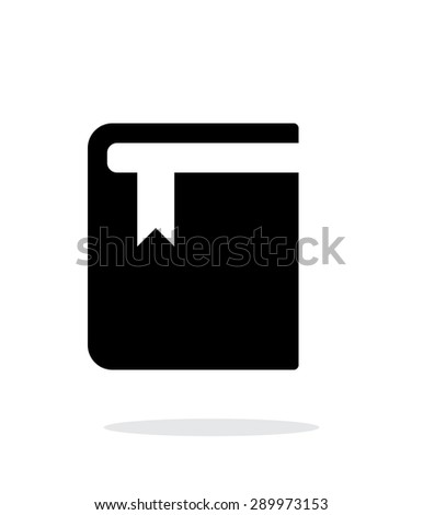 Book with bookmark simple icon on white background. - stock photo