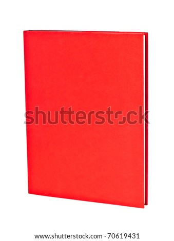 book with read cover isolated on the white background - stock photo