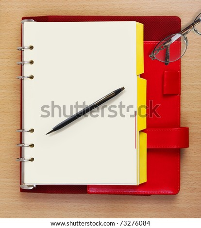 Booklet and business - stock photo