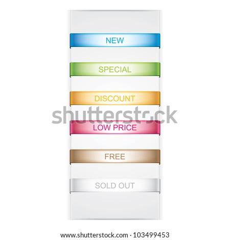 Bookmarks icon set - stock photo