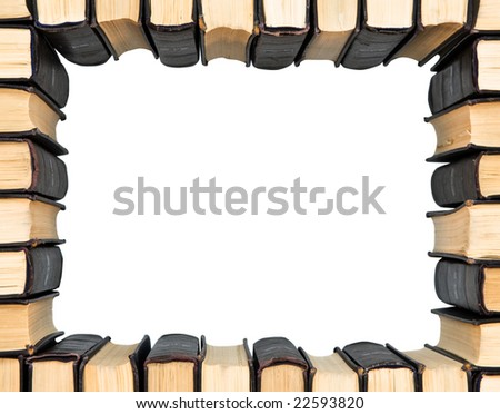 Books. Education.literature. Frame. - stock photo