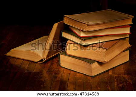 Books for evening reading - stock photo