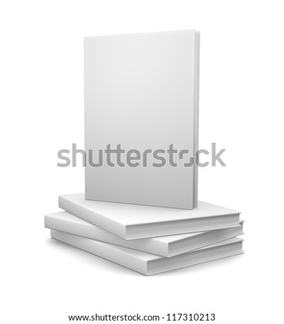 Books isolated on white - stock photo
