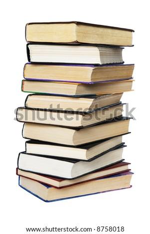 Books isolated on white - stock photo