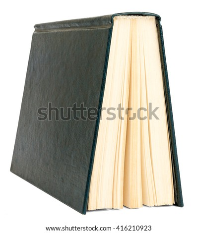 Books isolated on white background, close up view - stock photo