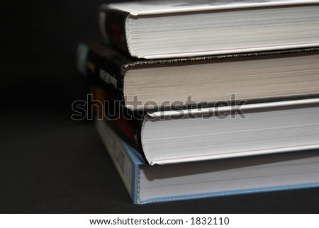 Books, laying one under other - stock photo