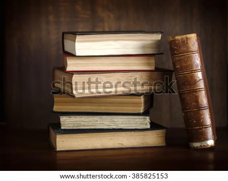 books , old books , legal books  - stock photo