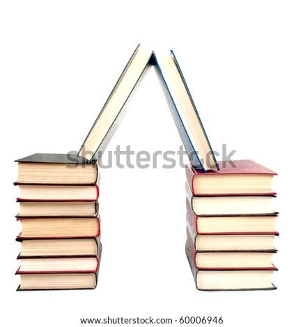 Books on a white background - stock photo