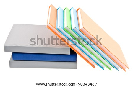 books on a white background - stock photo