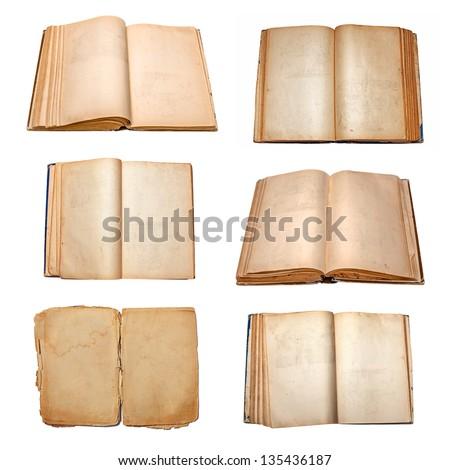 books set isolated on white background - stock photo