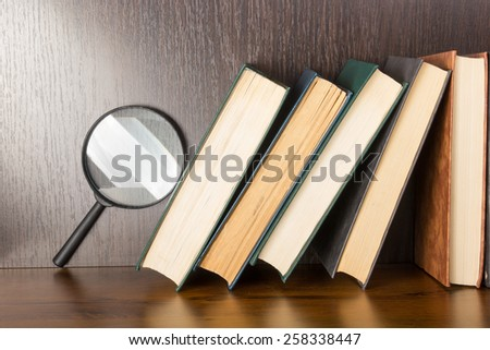 Books stacking. Back to school. - stock photo
