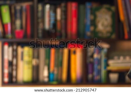 Bookshelf - background - stock photo