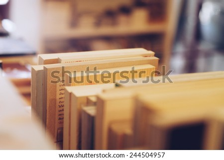 bookshelfs - stock photo