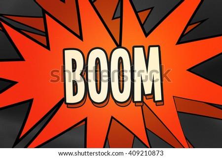 Boom Comic Speech Bubble - stock photo