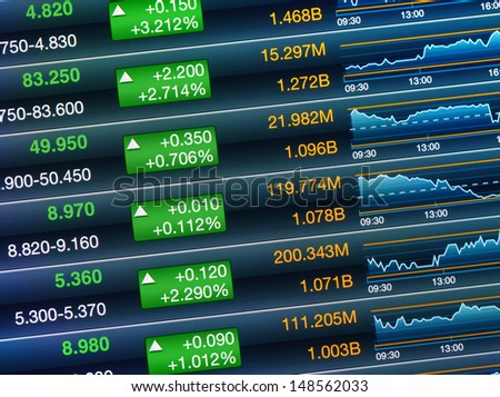 Boosting of the stock market - stock photo