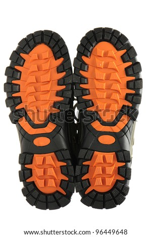Boot sole on a white background. - stock photo