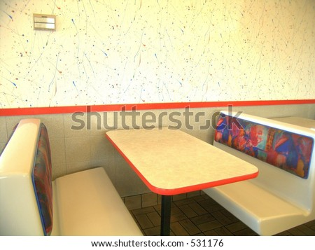 Booth, Fast food - stock photo