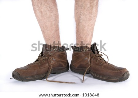 Boots and legs - stock photo