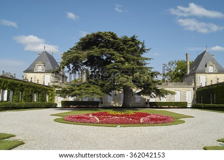 Bordeaux Chateau Beychevelle - stock photo