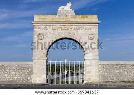Bordeaux chateau Leoville Las Cases - stock photo